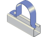 One Piece Channel Clip - Steel Pipe