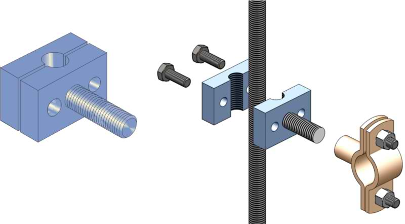 Allthread Rod Clamps