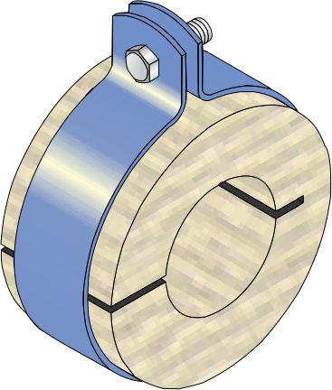 Band Clamp & Timber Ferrule - Copper Pipe