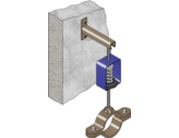 FMGR004 Gas Riser Horizontal - Wall Mount
