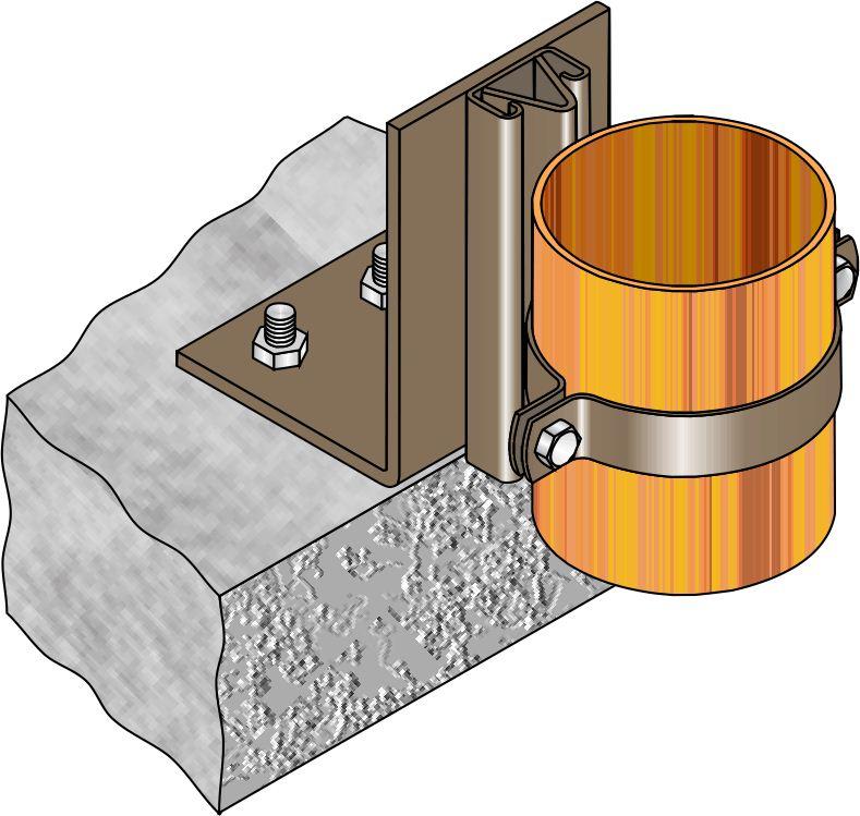 FMGR006 Gas Riser Guide - Floor Mount