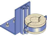 Floor Riser Guide and Timber Ferrule - Copper Pipe