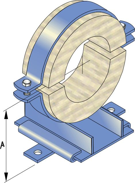 Heavy Duty Slide Guides and Timber Ferrule for Steel Pipe