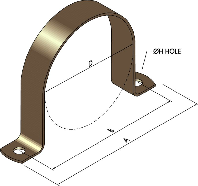 Saddle Clamps - Copper Pipes