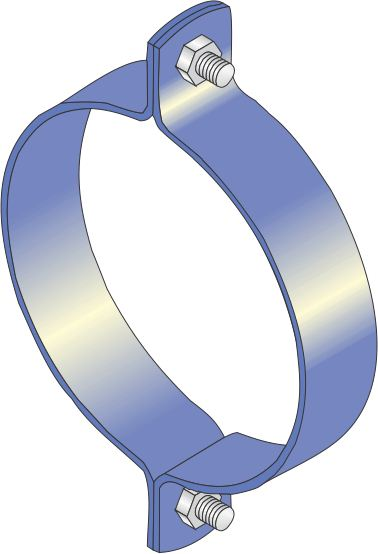 Standard Bolted Clamp for F.R.C.