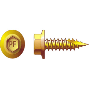 HEX HEAD TYPE 17 SCREW ZINC YELLOW